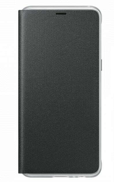 Чехол Samsung Neon Flip Wallet для Galaxy A8+ EF-FA730PBEGRU Black