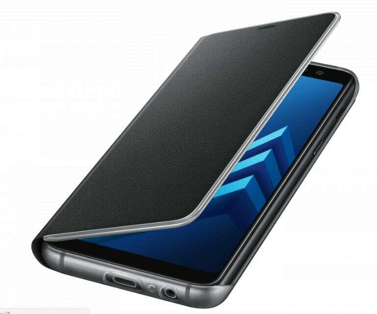 Чехол для смартфона Samsung Galaxy A8+ Neon Flip Wallet черный (EF-FA730PBEGRU)