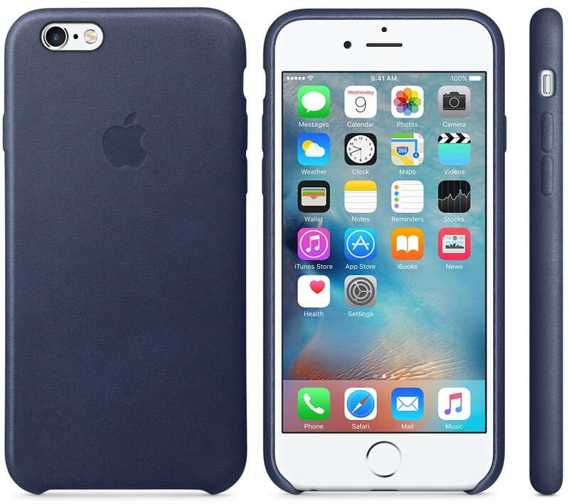 Чехол Apple MKXD2 iPhone 6s Plus Leather Case Midnight Blue