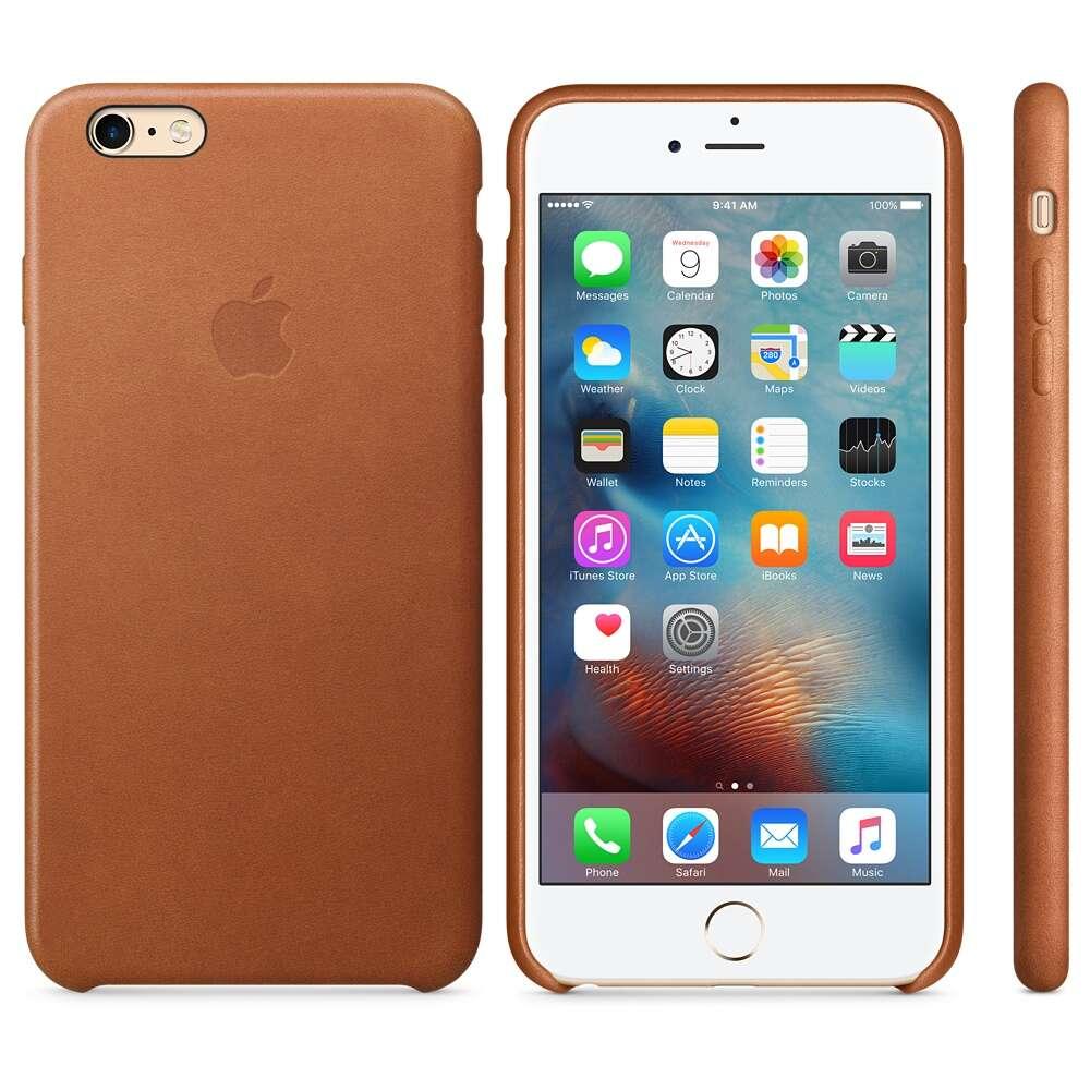 Чехол Apple iPhone 6s Plus Leather Case MKXC2 Saddle Brown