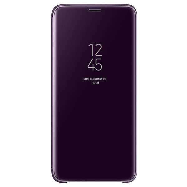 Чехол Samsung Clear View Standing Cover для Galaxy S9, фиолетовый