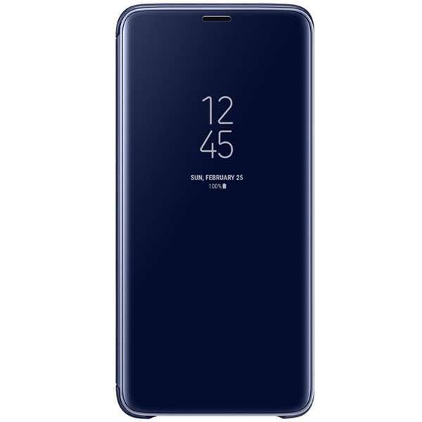 Чехол Samsung Clear View Standing Cover для Galaxy S9+, синий