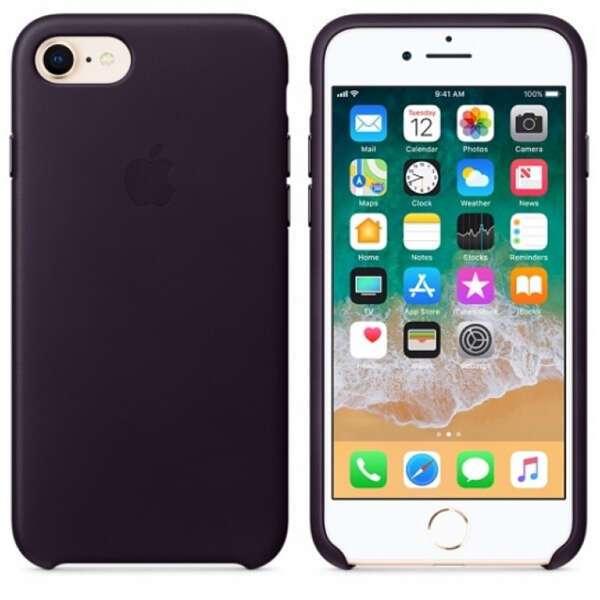 Чехол для смартфона Apple iPhone 8 / 7 Leather Case (Dark Aubergine)