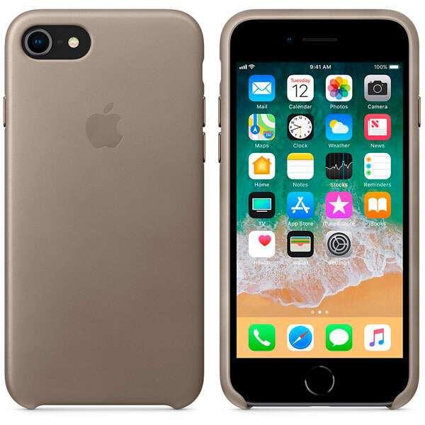 Чехол для смартфона Apple iPhone 8 / 7 Leather Case (Taupe)