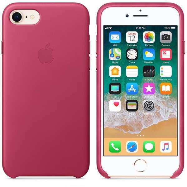 Чехол для смартфона Apple iPhone 8 / 7 Leather Case (Pink Fuchsia)