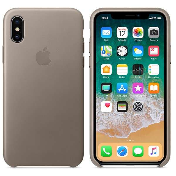Чехол Apple iPhone X Leather Case Taupe