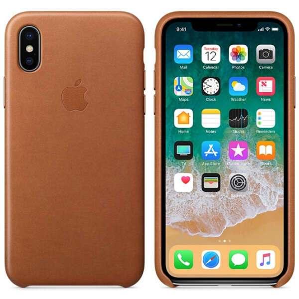 Чехол для смартфона Apple iPhone X Leather Case (Saddle Brown)