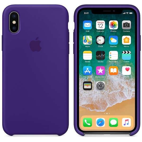 Чехол для смартфона Apple iPhone X Silicone Case (Ultra Violet)