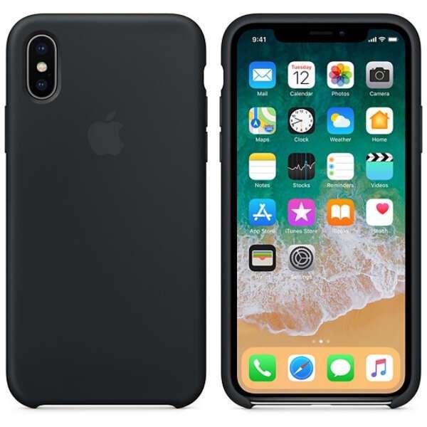 Чехол Apple iPhone X Silicone Case Black