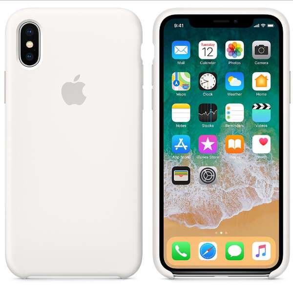 Чехол Apple iPhone X Silicone Case White