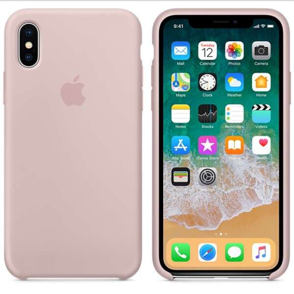 Чехол для смартфона Apple iPhone X Silicone Case (Pink Sand)