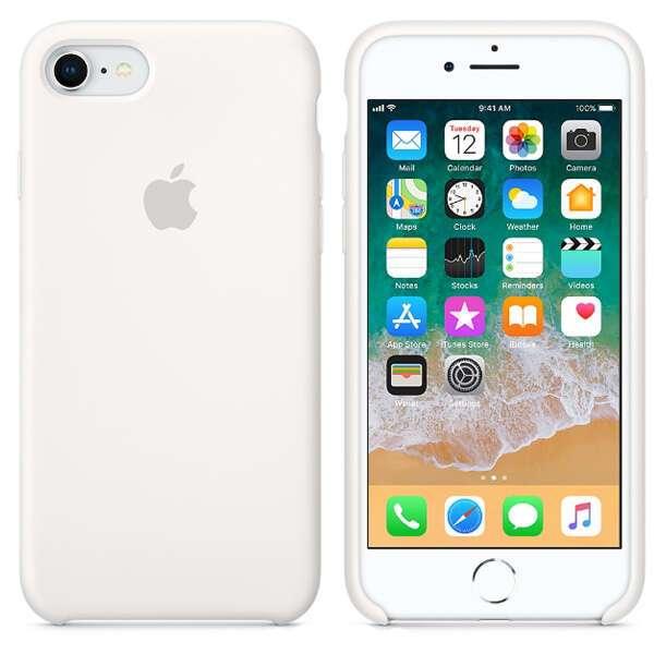 Чехол для смартфона Apple  iPhone 8 / 7 Silicone Case (White)