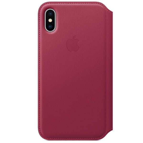 Чехол Apple iPhone X Leather Folio Berry