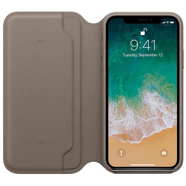 Чехол для смартфона Apple iPhone X Leather Folio (Taupe)
