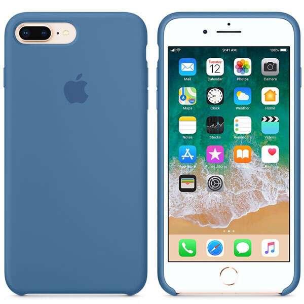 Чехол для смартфона Apple iPhone 8 Plus/7 Plus Silicone Case (Denim Blue)