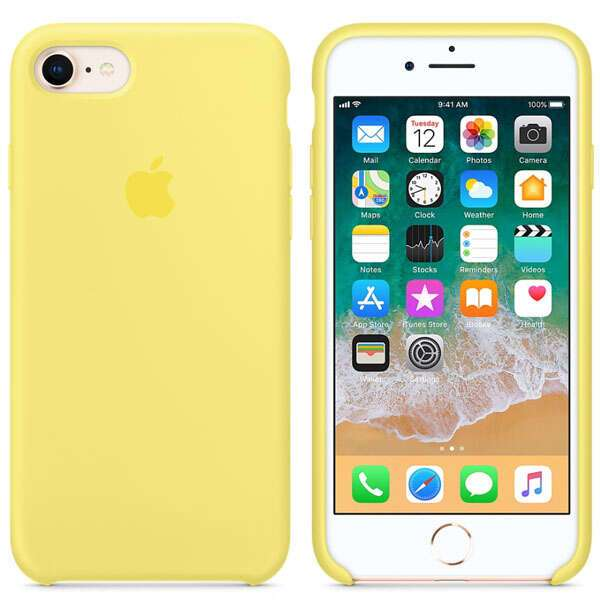 Чехол Apple iPhone 8/7 Silicone Case Lemonade