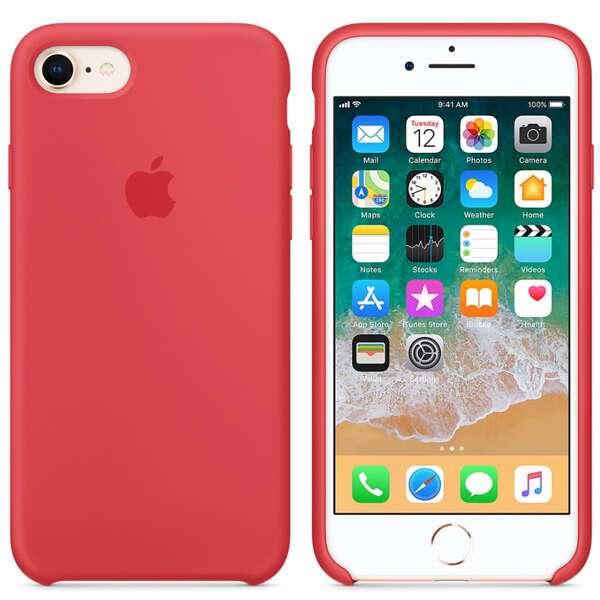 Чехол Apple iPhone 8/7 Silicone Case Red Raspberry