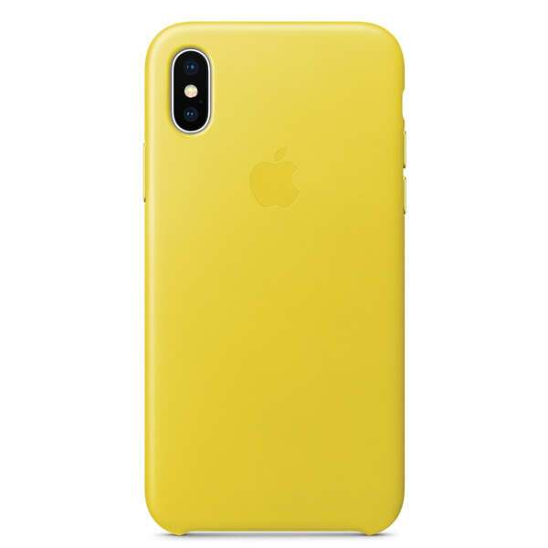 Чехол Apple iPhone X Leather Case Spring Yellow
