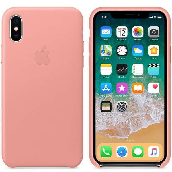 Чехол для смартфона Apple iPhone X Leather Case (Soft Pink)