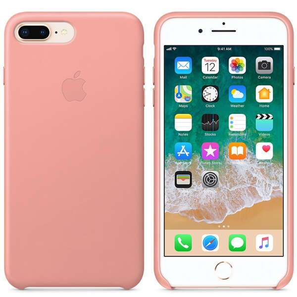 Чехол для смартфона Apple iPhone 8 Plus/7 Plus Leather Case (Soft Pink)