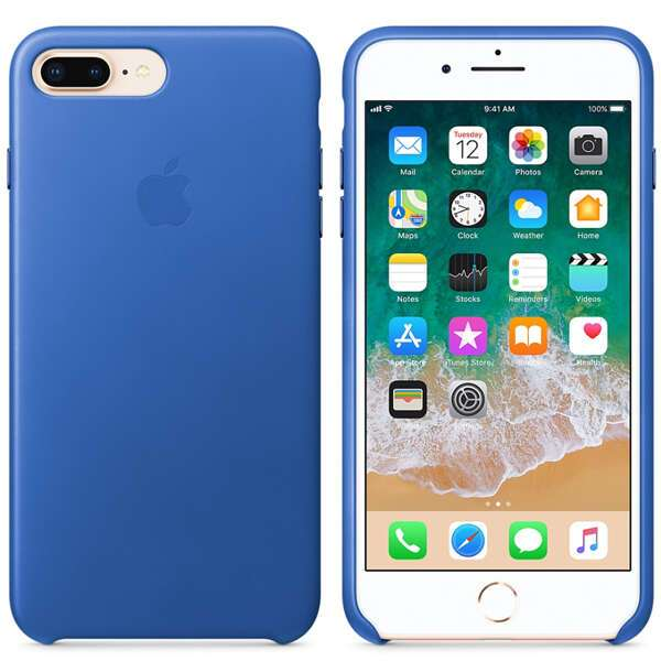 Чехол для смартфона Apple iPhone 8 Plus/7 Plus Leather Case (Electric Blue)