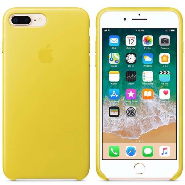 Чехол для смартфона Apple iPhone 8 Plus/7 Plus Leather Case (Spring Yellow)