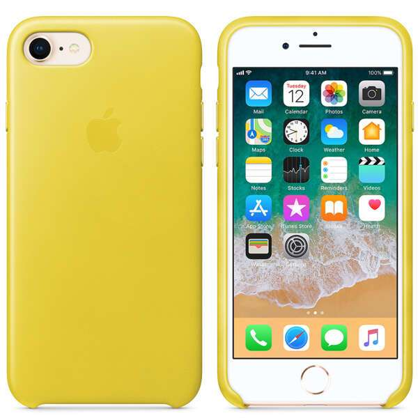 Чехол для смартфона Apple iPhone 8 / 7 Leather Case (Spring Yellow)