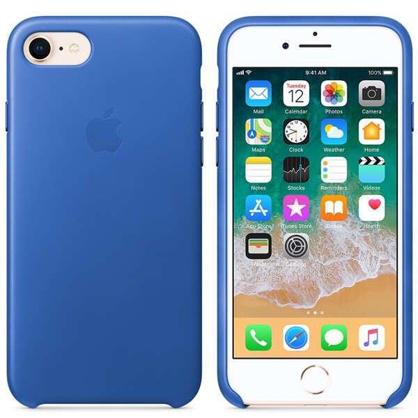 Чехол Apple iPhone 8/7 Leather Case Electric Blue