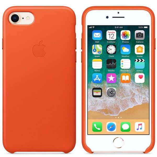 Чехол для смартфона Apple iPhone 8 / 7 Leather Case (Bright Orange)