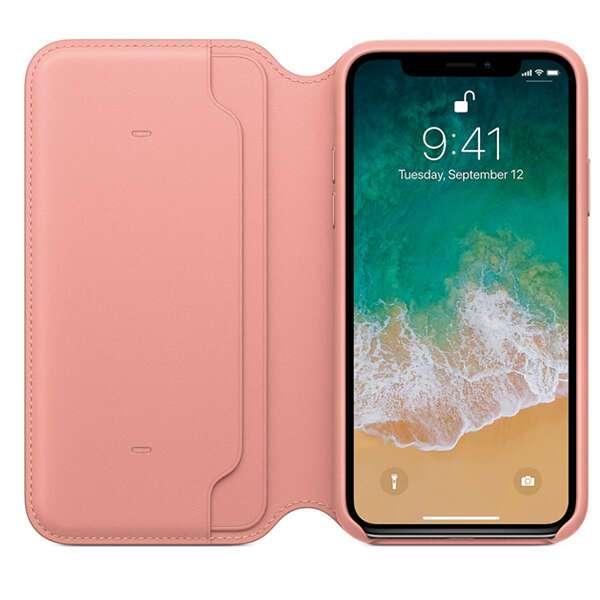 Чехол для смартфона Apple iPhone X Leather Folio (Soft Pink)
