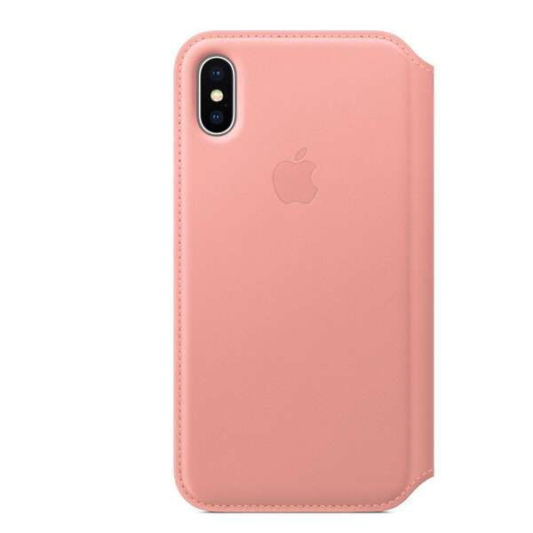 Чехол Apple iPhone X Leather Folio Soft Pink