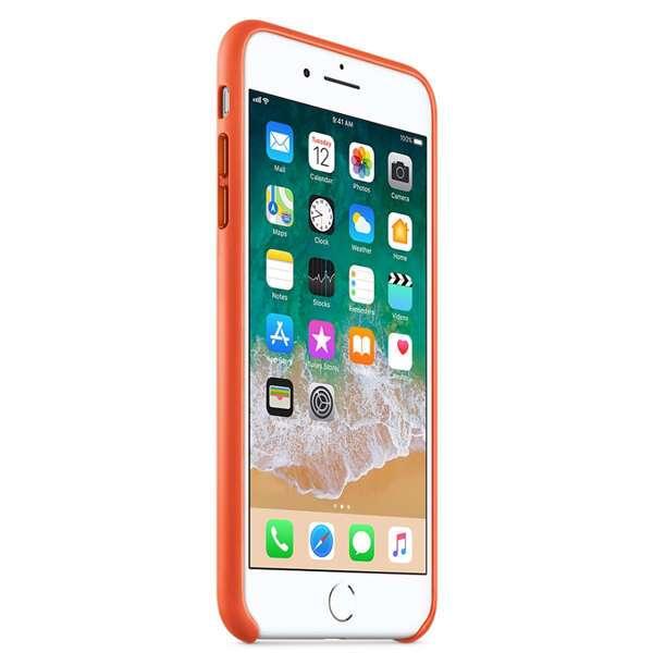 Чехол Apple iPhone 7 Plus/8 Plus Leather Case Bright Orange