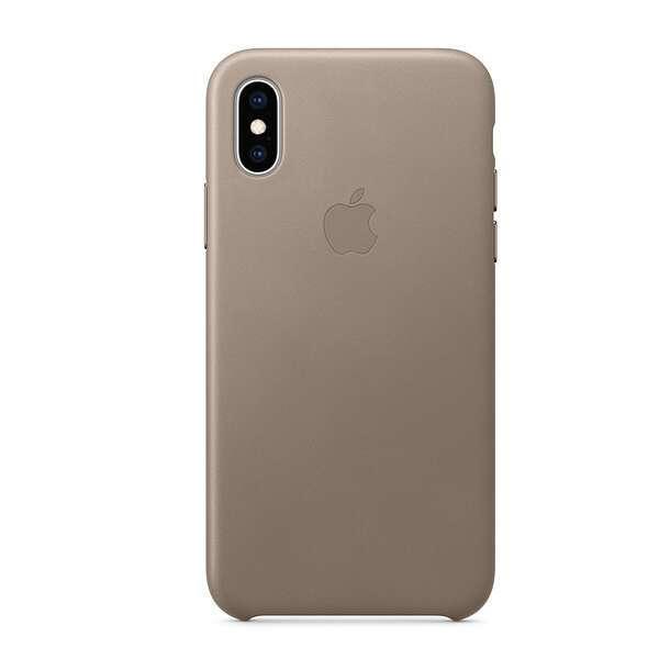 Чехол для смартфона Apple iPhone XS Max Leather Case (Taupe)