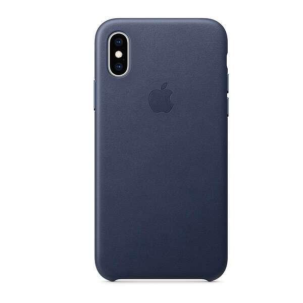 Чехол для смартфона Apple iPhone XS Max Leather Case (Midnight Blue)