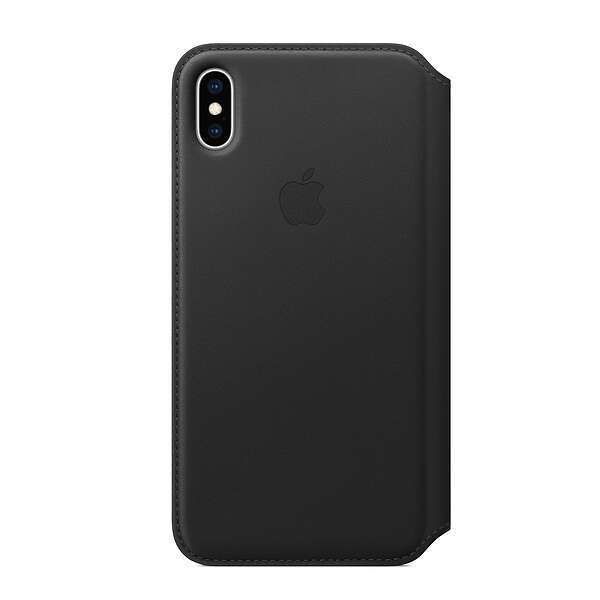 Чехол Apple iPhone XS Leather Folio Black
