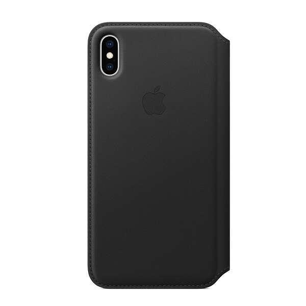 Чехол Apple iPhone XS Leather Folio Black