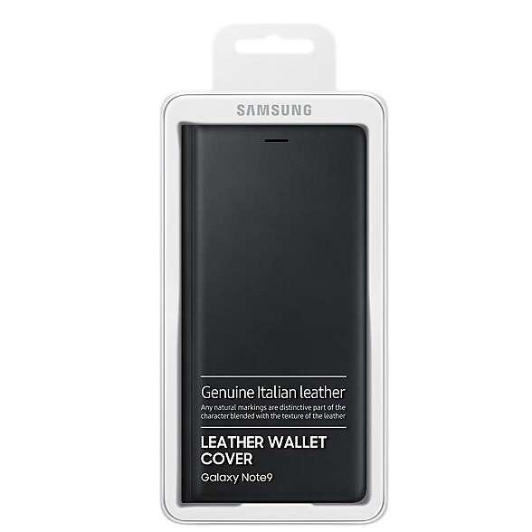 Чехол Samsung Leather Wallet Cover для Galaxy Note 9 (EF-WN960LBEGRU), Black