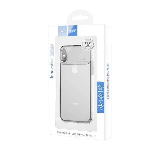 Чехол Hoco Water rhyme для iPhone X/XS Transparent