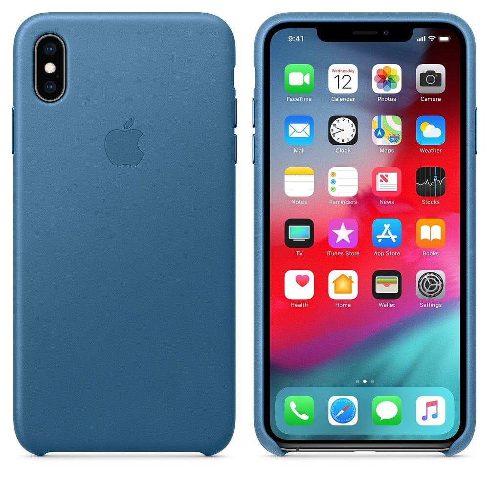 Чехол для смартфона Apple iPhone XS Max MTEW2 Leather Case Cape Cod Blue