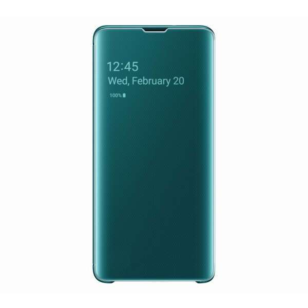Чехол для Samsung Galaxy S10 Clear View Cover Green EF-ZG973CGEGRU