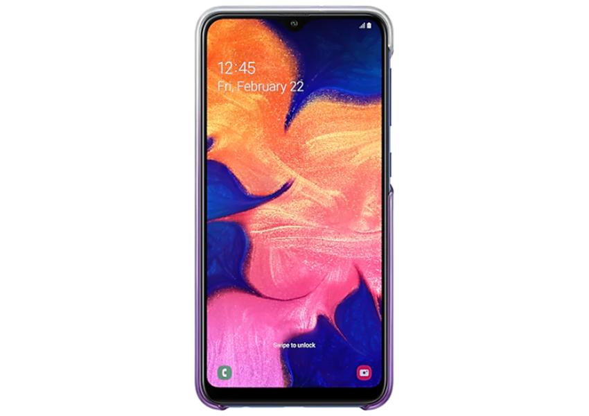 Чехол для смартфона Samsung Galaxy A10 Gradation Cover фиолетовый (EF-AA105CVEGRU)