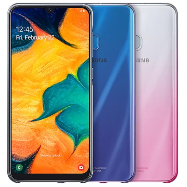Чехол для смартфона Samsung Galaxy A30 Gradation Cover черный (EF-AA305CBEGRU)