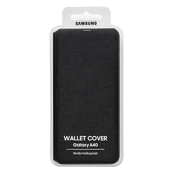 Чехол для смартфона Samsung Galaxy A40 Wallet Cover черный (EF-WA405PBEGRU)