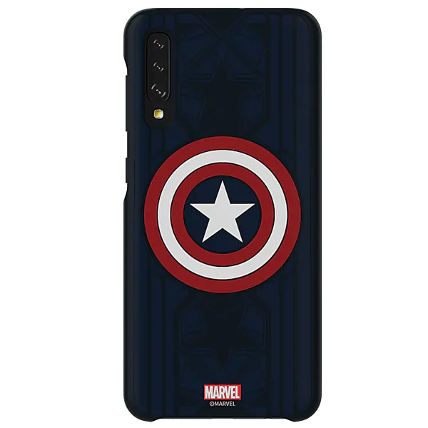 Чехол для Samsung Galaxy A50 Smart Cover Captain America Edition GP-FGA505HIBLW
