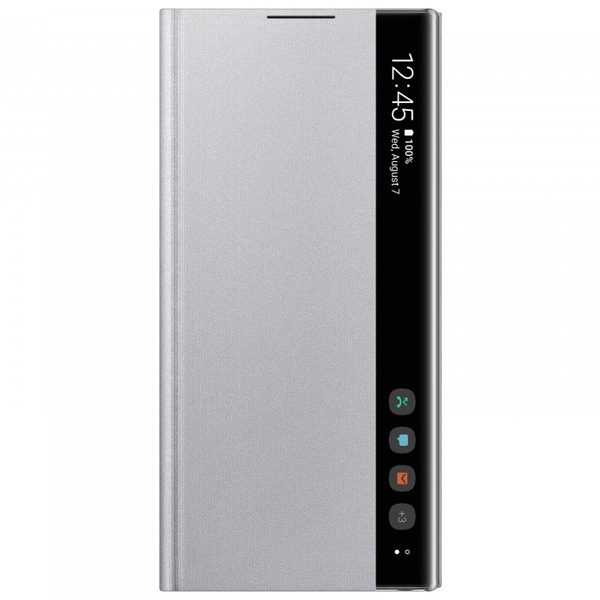 Чехол для Samsung Galaxy Note10 Clear View Cover Silver EF-ZN970CSEGRU