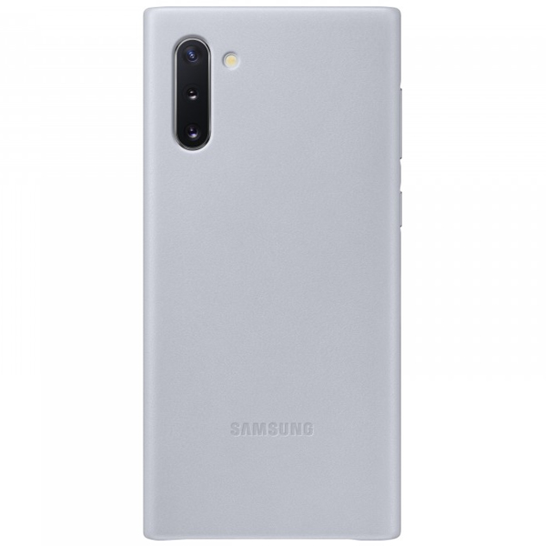 Чехол для Samsung Galaxy Note10 Leather Cover Grey EF-VN970LJEGRU