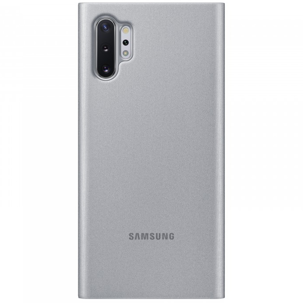 Чехол для смартфона Samsung Galaxy Note10+ Clear View Cover Серебристый (EF-ZN975CSEGRU)