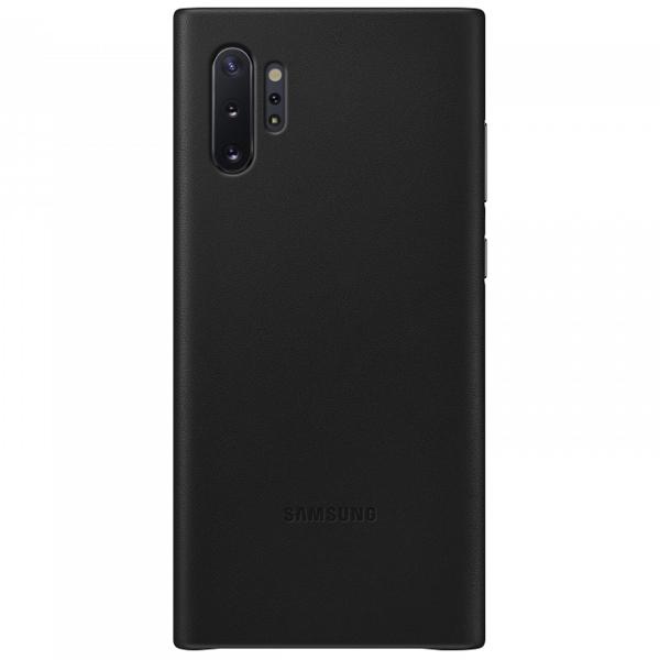 Чехол для смартфона Samsung Galaxy Note10+ Leather Cover Черный (EF-VN975LBEGRU)
