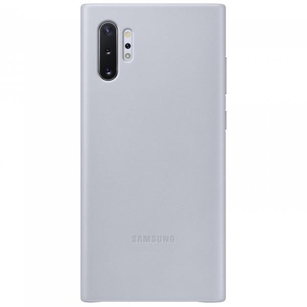 Чехол для смартфона Samsung Galaxy Note10+ Leather Cover Серый (EF-VN975LJEGRU)