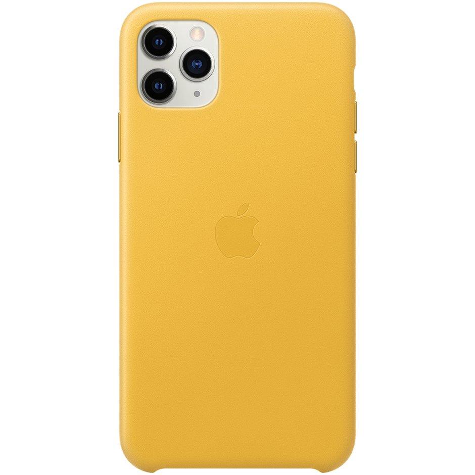 Чехол Apple iPhone 11 Pro Leather Case Yellow